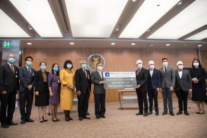Jaspal & Sons Co., Ltd.has donated 3,000 packs of masks to Mr. Chuan Leekpai, President of the Parliament